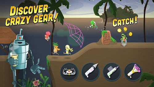 Écrans du jeu Zombie catchers pour iPhone, iPad ou iPod.