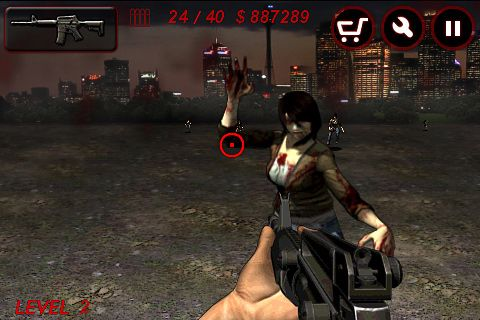 Screenshots of the Zombie city game for iPhone, iPad or iPod.