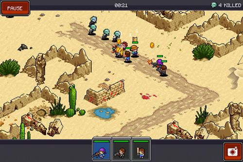 Download Zombie commando iPhone free game.