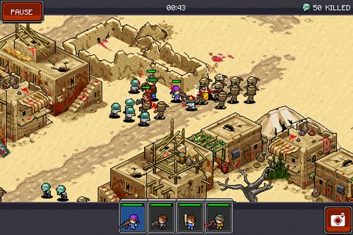 Screenshots of the Zombie commando game for iPhone, iPad or iPod.