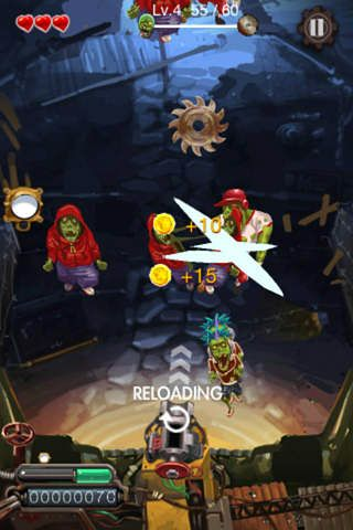 Screenshots of the Zombie crack game for iPhone, iPad or iPod.