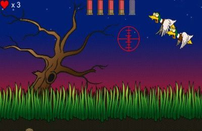 Screenshots of the Zombie Duck Hunt game for iPhone, iPad or iPod.