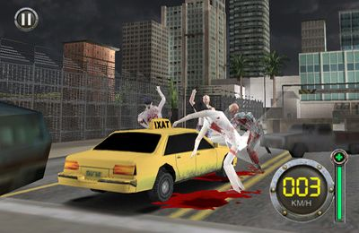 iPhone、iPad または iPod 用Zombie Escape-The Driving Deadゲームのスクリーンショット。