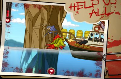Capturas de pantalla del juego Zombie Fish Tank para iPhone, iPad o iPod.