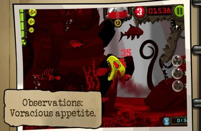 Screenshots do jogo Zombie Fish Tank para iPhone, iPad ou iPod.