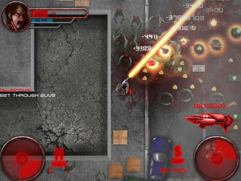 Screenshots of the Zombie: Halloween Slasher game for iPhone, iPad or iPod.