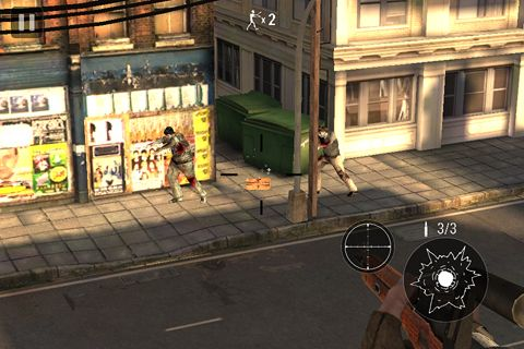Screenshots of the Zombie hunter: Bring death to the dead game for iPhone, iPad or iPod.