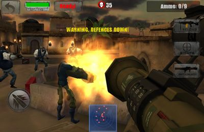 Screenshots of the Zombie Jeep Gunner game for iPhone, iPad or iPod.