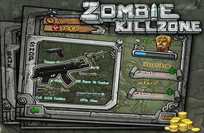 Screenshots of the Zombie Kill Zone game for iPhone, iPad or iPod.
