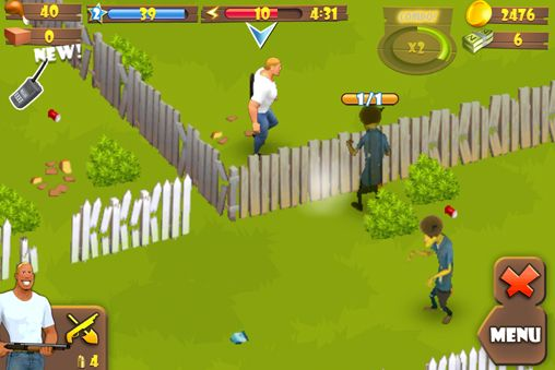 Capturas de pantalla del juego Zombie lane para iPhone, iPad o iPod.