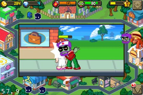 Screenshots of the Zombie life game for iPhone, iPad or iPod.