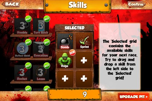 Screenshots of the Zombie mania game for iPhone, iPad or iPod.