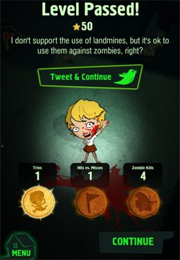 Capturas de pantalla del juego Zombie Minesweeper para iPhone, iPad o iPod.