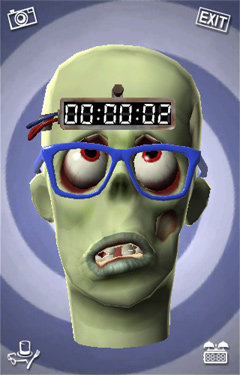 Screenshots of the Zombie Nombie game for iPhone, iPad or iPod.