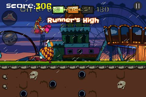 Capturas de pantalla del juego Zombie: Parkour runner para iPhone, iPad o iPod.