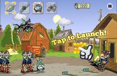 Screenshots do jogo Zombie Pie para iPhone, iPad ou iPod.