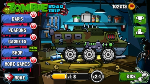 Descarga gratuita de Zombie Road Trip para iPhone, iPad y iPod.