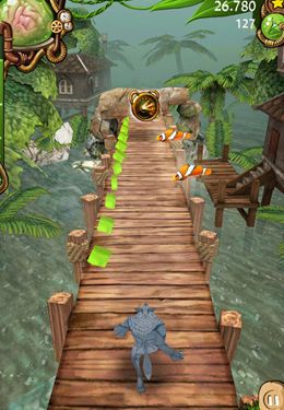 Screenshots of the Zombie Run HD game for iPhone, iPad or iPod.