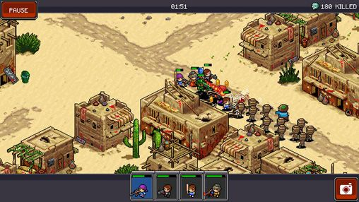 Screenshots of the Zombie сommando game for iPhone, iPad or iPod.