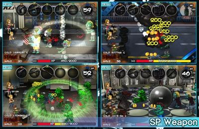 Screenshots of the Zombie Street game for iPhone, iPad or iPod.