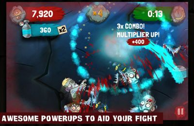 Download Zombie Swipeout iPhone free game.