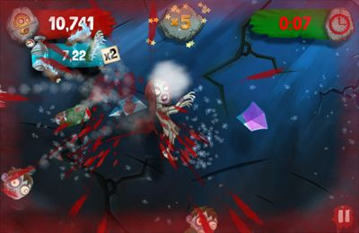 Screenshots do jogo Zombie Swipeout para iPhone, iPad ou iPod.