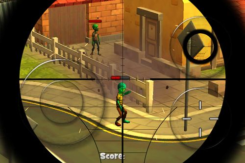 Descarga gratuita de Zombie town: Sniper shooting para iPhone, iPad y iPod.