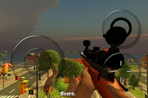 Capturas de pantalla del juego Zombie town: Sniper shooting para iPhone, iPad o iPod.