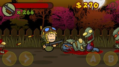 Screenshots of the Zombie walker game for iPhone, iPad or iPod.