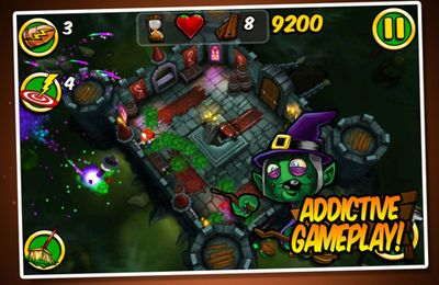 Capturas de pantalla del juego Zombie Wonderland 2 para iPhone, iPad o iPod.