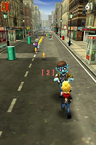 Screenshots of the Zombies after me! game for iPhone, iPad or iPod.