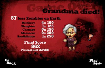 Capturas de pantalla del juego Zombies and Me para iPhone, iPad o iPod.