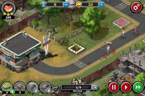 Download Zombies: Line of defense iPhone free game.