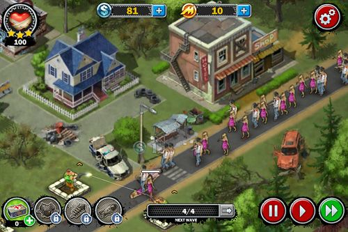 Screenshots of the Zombies: Line of defense game for iPhone, iPad or iPod.