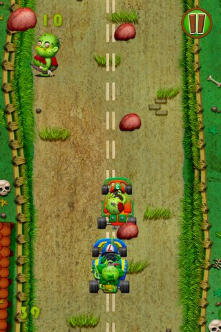 Download Zombies race plants iPhone free game.