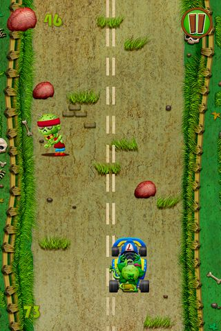 Screenshots of the Zombies race plants game for iPhone, iPad or iPod.