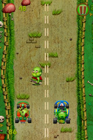 Écrans du jeu Zombies race plants pour iPhone, iPad ou iPod.