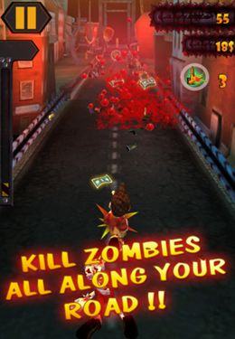 Capturas de pantalla del juego Zombies Runner para iPhone, iPad o iPod.