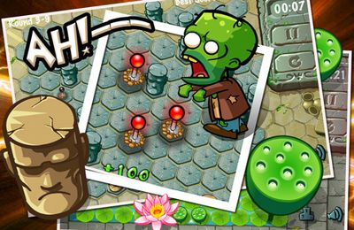 Screenshots of the Zombies Trap game for iPhone, iPad or iPod.