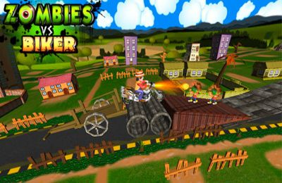 Écrans du jeu Zombies vs Biker (3D Bike racing games) pour iPhone, iPad ou iPod.