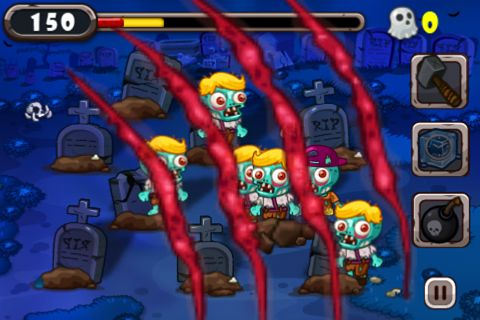 Écrans du jeu Zombies vs. thumbs pour iPhone, iPad ou iPod.