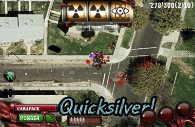 Screenshots of the Zombilution game for iPhone, iPad or iPod.