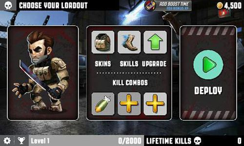Screenshots of the Zombocalypse game for iPhone, iPad or iPod.