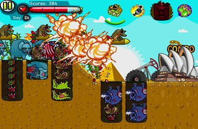 Screenshots of the Zoombie Digger game for iPhone, iPad or iPod.