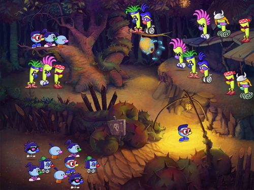 Screenshots of the Zoombinis game for iPhone, iPad or iPod.