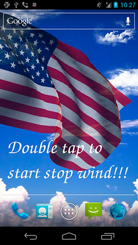 3D US flag live wallpaper for Android  3D US flag free