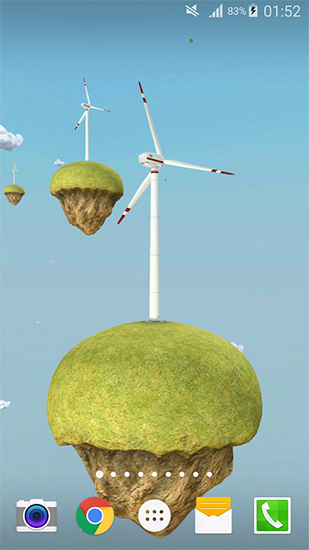Screenshots of the Windmill 3D for Android tablet, phone.
