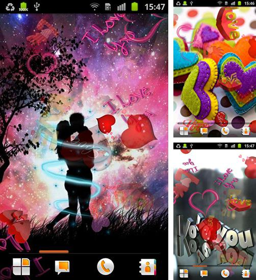 In addition to live wallpaper Circles for Android phones and tablets, you can also download About love for free.