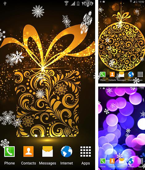 Kostenloses Android-Live Wallpaper Abstrakt: Weihnachten. Vollversion der Android-apk-App Abstract: Christmas für Tablets und Telefone.