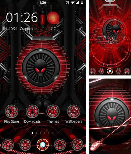 Kostenloses Android-Live Wallpaper Alien Spinne 3D. Vollversion der Android-apk-App Alien spider 3D für Tablets und Telefone.